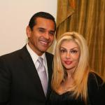Los Angeles Mayor Antonio Villaraigosa and Anahita Khalatbari