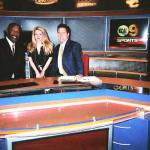 NBA Basketball All Star Champion James Worthy and Anita Khalatbari, CBS 2 Sportscaster Garry Miller